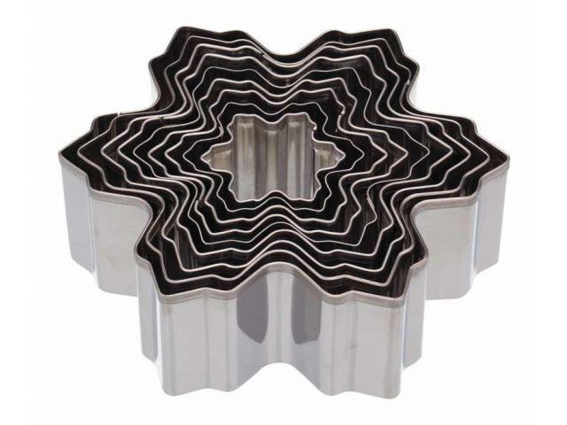 ausstechformen set keksausstecher weihnachtsbaum 9 tlg edelstahl let. Black Bedroom Furniture Sets. Home Design Ideas