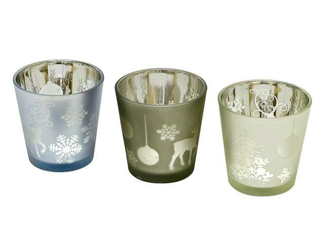 glas teelichthalter weihnachten 7 5x7 5 cm vers farben. Black Bedroom Furniture Sets. Home Design Ideas