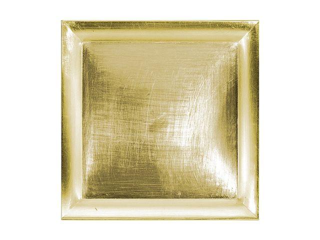 Dekoteller gold quadr 29x29cm kochgeschirr k chenwerkzeuge gedec - Dekoteller gold ...