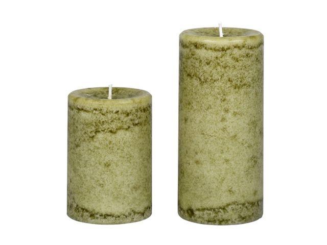 Duftkerze Duft-Stumpenkerze Wacholder grün 10x7 cm