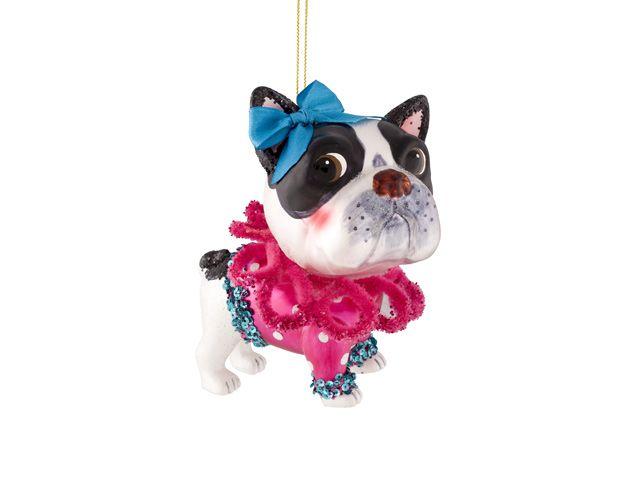 giftcompany weihnachtskugel boston terrier wei schwarz pink 11. Black Bedroom Furniture Sets. Home Design Ideas