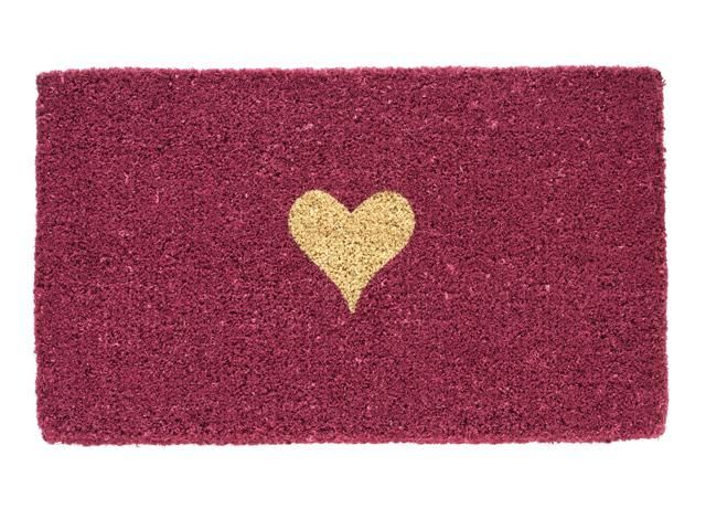 Giftcompany Kokosmatte Fußmatte aus Kokos Heart On Pink pink 74x44 cm