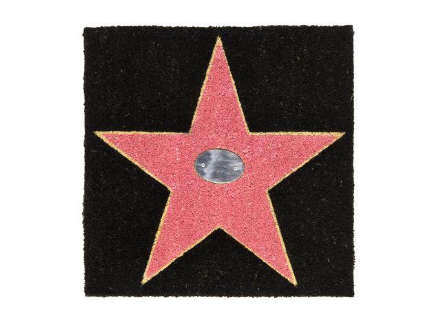 Giftcompany Kokosmatte Fußmatte aus Kokos Walk Of Fame schwarz pink 60x60 cm