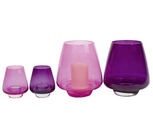 glaswindlicht teelichthalter lila 8 8x10 cm. Black Bedroom Furniture Sets. Home Design Ideas