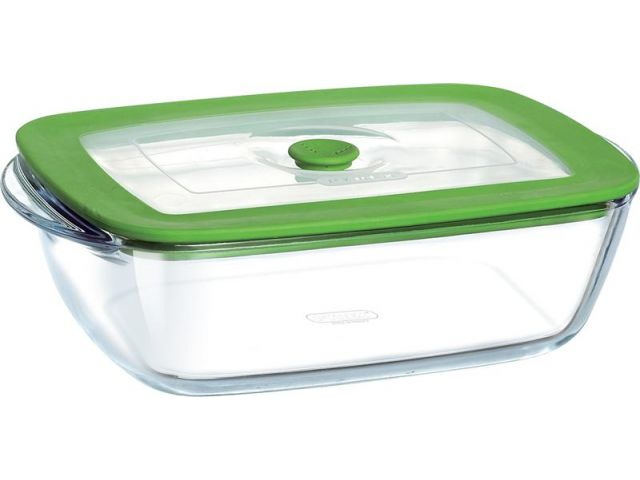 Mikrowellengeschirr  Pyrex Mikrowellengeschirr eckig Kochgeschirr Glas 1,1 ltr. - Kochgesc