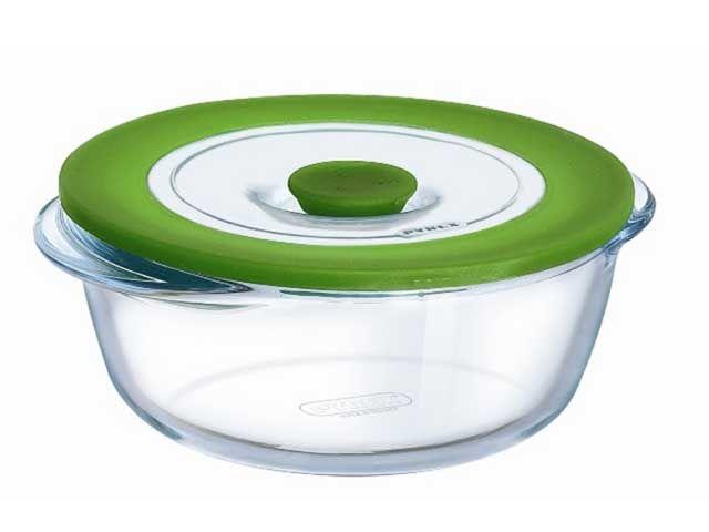 Pyrex Mikrowellengeschirr rund Kochgeschirr Glas 1 ltr. - Kochgeschir | {Mikrowellengeschirr 64}