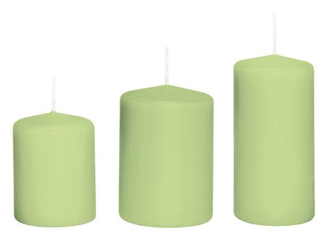 Stumpenkerze 10x7 cm hellgrün