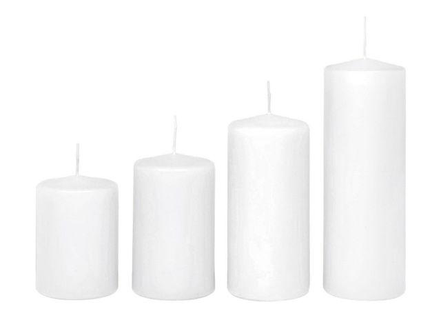 Stumpenkerze Kerze 10x7 cm weiß
