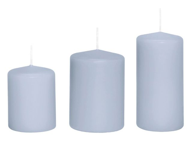 Stumpenkerze Kerze 10x7 cm hellblau