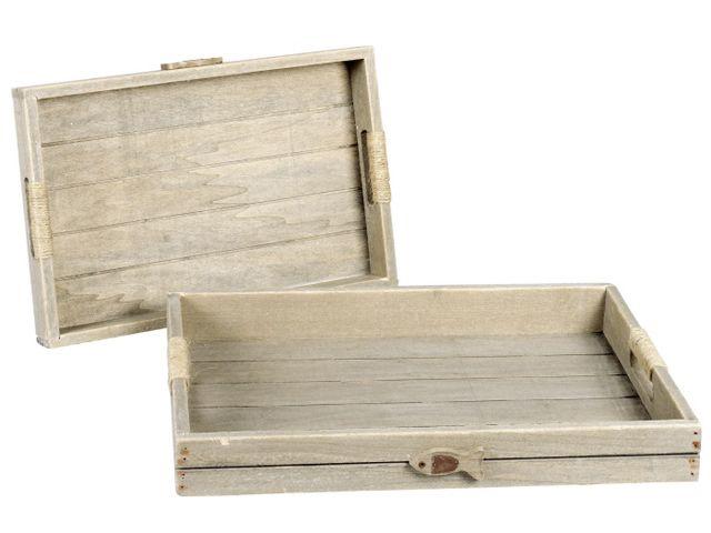 tablett 2er set holz kochgeschirr k chenwerkzeuge gedeckter tisch. Black Bedroom Furniture Sets. Home Design Ideas