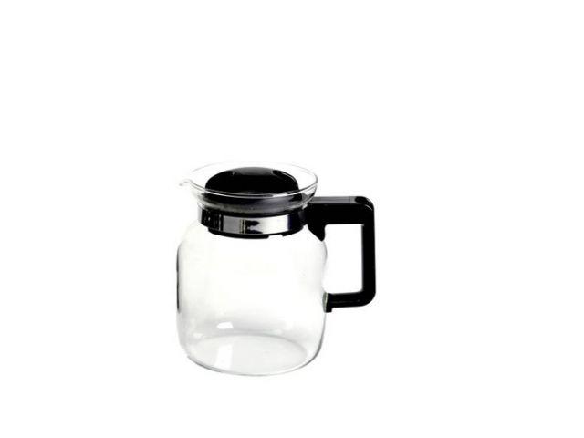 Teekanne Glaskanne Glas Europa 1 ltr. schwarz