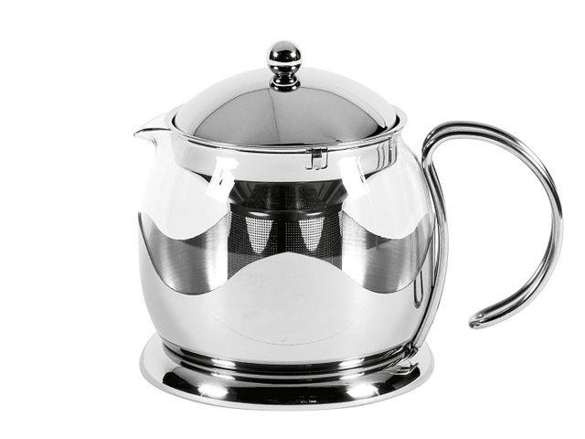 teekanne mit sieb edelstahlgestell le teapot 0 6 ltr. Black Bedroom Furniture Sets. Home Design Ideas