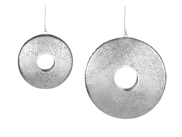 teelichthalter metall zum h ngen rund silber 19 cm kochgeschir. Black Bedroom Furniture Sets. Home Design Ideas