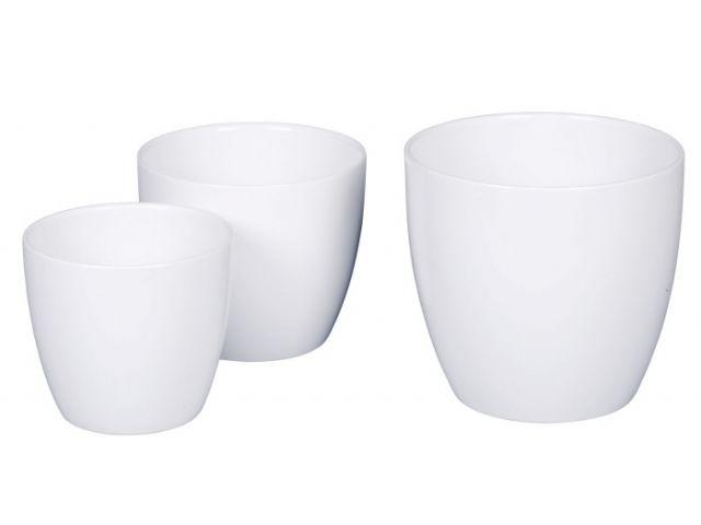 Bertopf keramik blumentopf alaska wei 14 cm kochgeschi for Blumentopf keramik