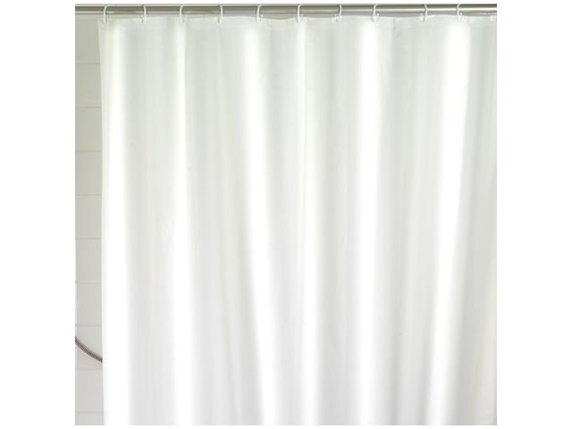wenko duschvorhang uni wei 120x200 cm polyester. Black Bedroom Furniture Sets. Home Design Ideas