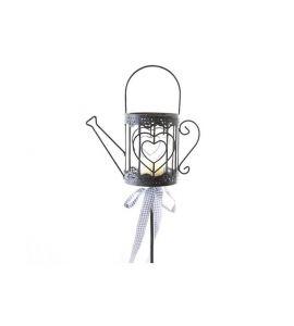 gartenstecker gie kanne mit glaseinsatz f r 1 teelicht 110. Black Bedroom Furniture Sets. Home Design Ideas