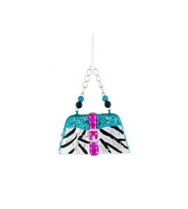 giftcompany weihnachtskugel lady handtasche zebra schwarz wei. Black Bedroom Furniture Sets. Home Design Ideas