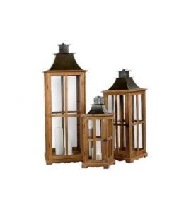 laternen 3er set holz braun gro kochgeschirr k chenwerkzeug. Black Bedroom Furniture Sets. Home Design Ideas