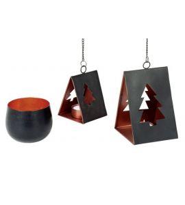 metall windlicht rund schwarz kupfer 9 5x8 cm kochgeschirr k chenw. Black Bedroom Furniture Sets. Home Design Ideas