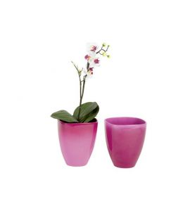 orchideentopf ton blumentopf bicolor brombeer 14 cm kochgeschirr k. Black Bedroom Furniture Sets. Home Design Ideas
