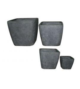 pflanzk bel fulda blument pfe 4er set pflanzt pfe fibr. Black Bedroom Furniture Sets. Home Design Ideas