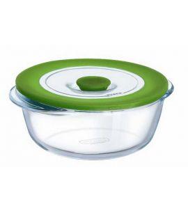 Mikrowellengeschirr  Pyrex Mikrowellengeschirr rund Kochgeschirr Glas 1 ltr. - Kochgeschir