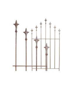 rankgitter lilie rankhilfe metall rost finish 62x118 cm. Black Bedroom Furniture Sets. Home Design Ideas