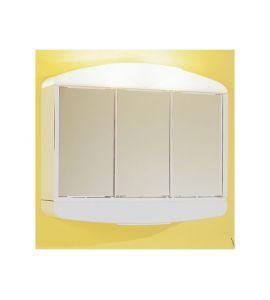 Spiegelschrank arcade mit 3 spiegelt ren wei 50x58 cm k - Arcade spiegel ...