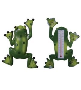 Thermometer Fensterthermometer Frosch Kunststoff