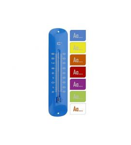 Thermometer Wandthermometer Metall 30 cm vers. Farben