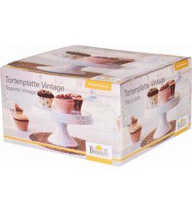 tortenplatte vintage tortenst nder 23 cm keramik 12 cm hoch birk. Black Bedroom Furniture Sets. Home Design Ideas