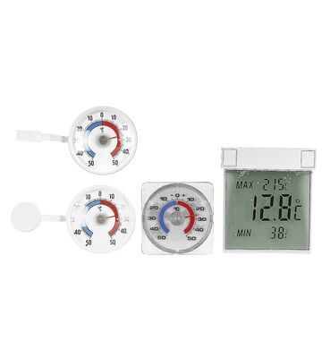 TFA Digitales Fenster-Thermometer Vision 10,5x9,7 cm