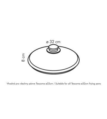 Tescoma Unicover Glasdeckel 32 Cm Abdeckung Für Pfannen Kochge