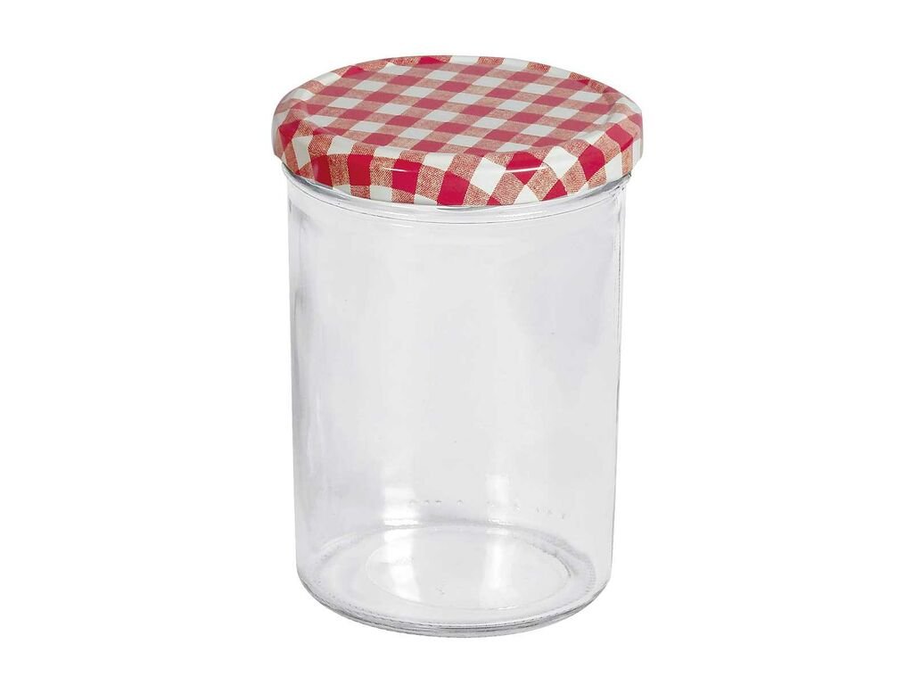 Einmachglas Twist-off-Glas Marmeladenglas Schraubgas 440 ml Karo