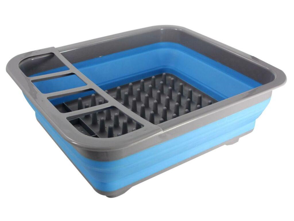 Geschirrtrockner 36x31x6 cm in grau blau für Teller  ~ Geschirrtrockner
